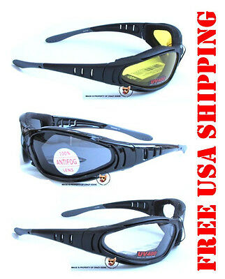 Global Vision Ultra Riding Glasses Eva Foam Anti-Fog Motorcycle Sunglasses