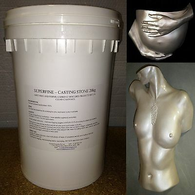 20kg WHITE Casting Stone..Perfect for Larger Castings.Packed in Re-sealable Pail