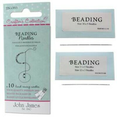 Ten Assorted Crafter's Collection Beading Needles