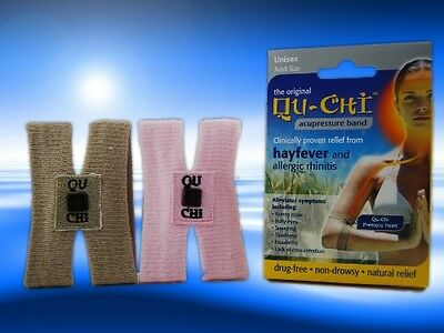 Qu-Chi Hayfever Acupressure Band Proven Natural Allergy Relief - Brown