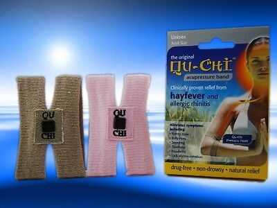 Qu-Chi Hayfever Acupressure Band Proven Relief - Brown