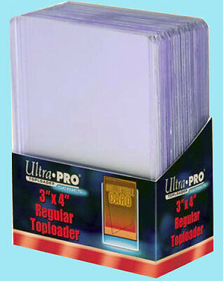 25 Ultra Pro 3x4 REGULAR TOPLOADERS NEW Rigid Clear Trading Card Sleeves Sports