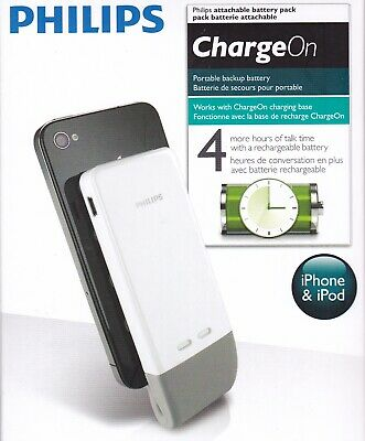 Philips 1200mAh Portable Battery Pack for Apple iPhone 3G 3GS 4 4S iPod Touch