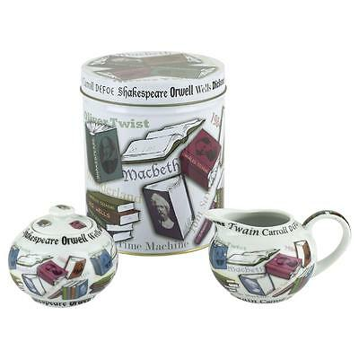 NEW Paul Cardew NOVEL TEA novelty sugar bowl & creamer jug set + tin