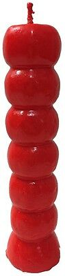 Red Seven Knob Candle (7 Day Candle Magic, Ritual, Wishing Candle)