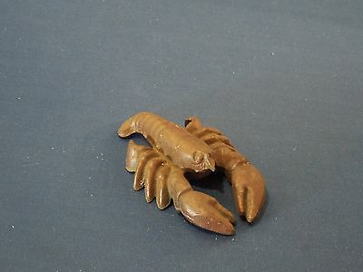 """Vintage Cast Iron Lobster Crayfish Bottle Opener with """"5"""" Marked on Tail"""