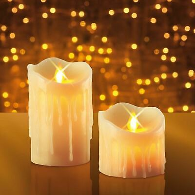 Jml Miracle Flame Candles Battery Powered Flickering Flame With Led Light 2 Pack