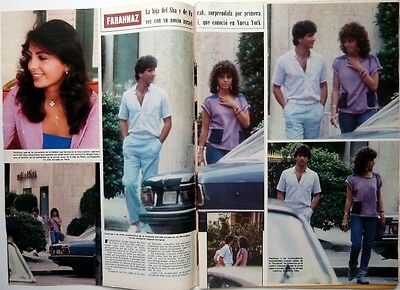 *Princess FARAHNAZ OF IRAN => 2  pages 1983 Spanish Clipping !!!