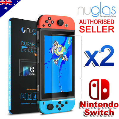 2x Nintendo Switch Screen Protector 9H Slim Tempered Glass
