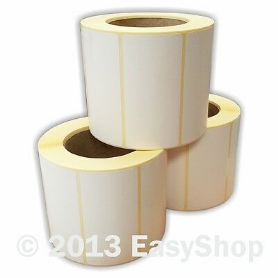102mm x 50mm White Thermal Direct Zebra Printer Labels 1000 Per Roll 76mm Core