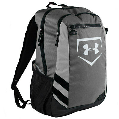 Under Armour Hustle Baseball/Softball Backpack Bag - Graphite