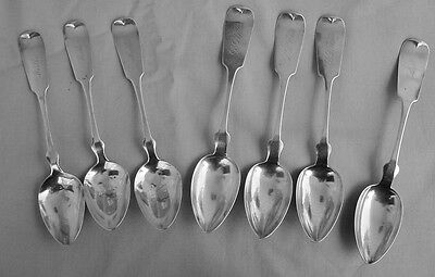7 Large American Coin Silver Tablespoons, Estate Liquidation