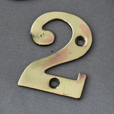 Antique Victorian Solid Brass Numerals #2