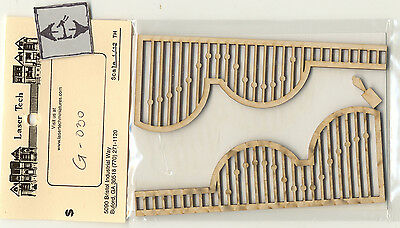 Victorian Painted Lady Porch Grilles LT501  wood 1//12 scale dollhouse miniature