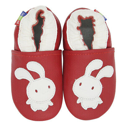 carozoo bunny red 12-18m new soft sole leather baby shoes
