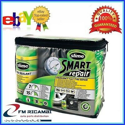 KIT SMART REPAIR SLIME - RIPARA FORATURE FINO A 6mm - GONFIA E RIPARA