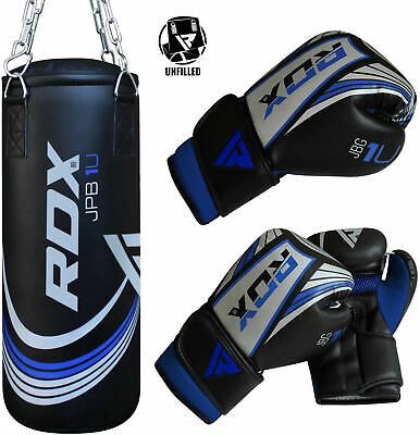 RDX Junior 2FT Unfilled Punch Bag Set Boxing Gloves Tarining Stand AU