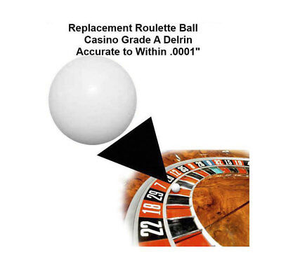(Two) 1/2 Inch Casino Grade Roulette Ball (Pill) - Item 20-1012x2