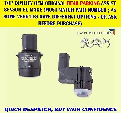Genuine New Rear Parking Sensor Citroen C3, Ds3 09-Peugeot 3008 5008 9677782980
