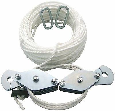 180Kg CARGO LIFTING PULLEY SET ROPE WINCH HOIST PULLER NEW