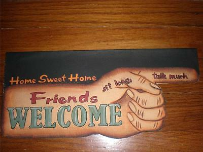 WELCOME Primitive Sign Canvas Flag Vintage Style Garden Porch Home Decor NEW