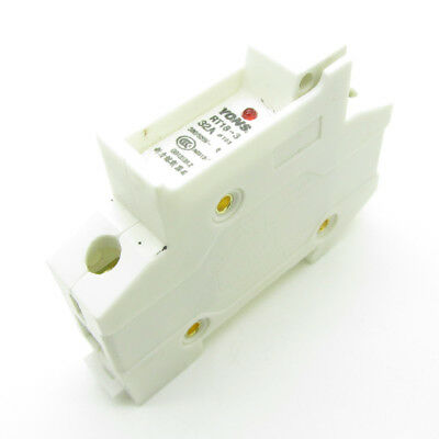 White Fuse Holder Socket Din Rail Mounting RT18-32 for 10mm x 38mm 0 - 32A