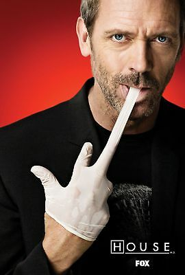 New TV Poster Print: House MD - Hugh Laurie **DISCOUNTED OFFERS**  (A3 / A4)
