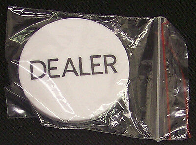 Lot Of 10 Dealer Buttons Casino Quality With 3 New Decks Poker Size Cards(1245)