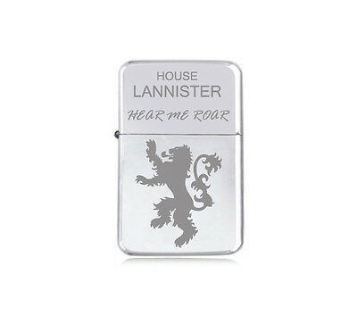★STAR★ house LANNISTER engraved LIGHTER silver black pink gold GAME OF THRONES