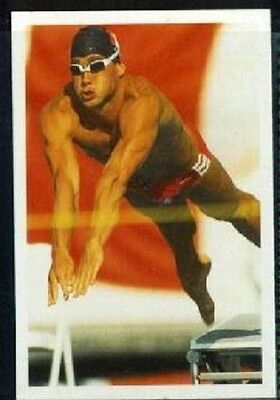 Scarce Trade Card of Victor Davies, Swimming 1986