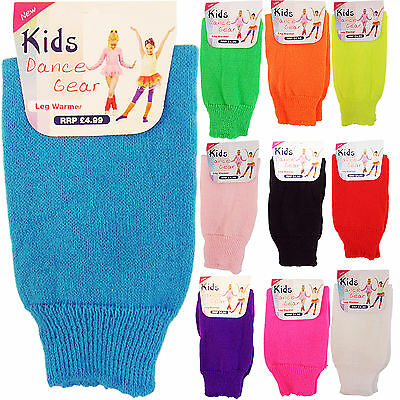 Childs Childrens Girls Dance Party Leg Warmers Chunky Knit Socks Age 4 To 14 New