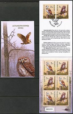 Lithuania 2014 Red Book Birds Owls Booklet MNH** issued 5000 psc.