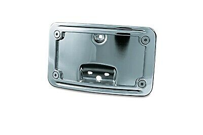 Kuryakyn Chrome Curved Laydown License Plate for Harley Deluxe Heritage 05-17