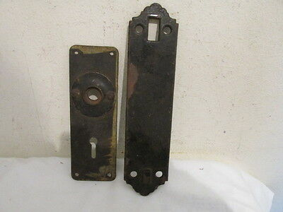 Antique Lot of 2 Cast Iron Backplates VFC Very Old