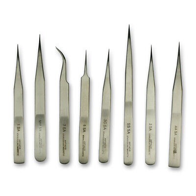Tweezers set x8 watchmakers HIGH QUALITY Tools repairs parts