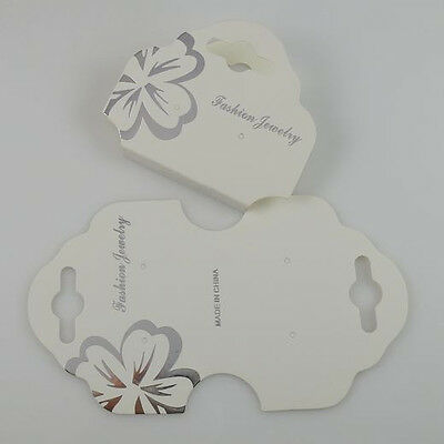 50PCS White Paper Necklace Bracelet Hanging Card Jewelry Display Packaging