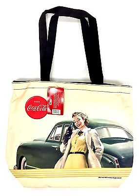 "Coca Cola Ladies Large 15"" x 13"" Tote Bag"