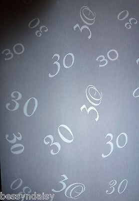 25 Sheets 30th Birthday/Anniversary A4 Vellum Sheer papers Pearl Invitations