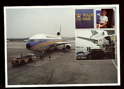 GB Post Office Royal Mail Postcard - British Caledonian Airmail Unused #C11105