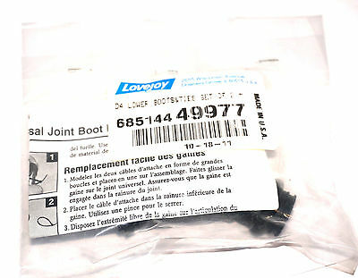 New Lovejoy 68514449977 Universal Joint Boot  D4 Lower Boots&ties Set Of 2
