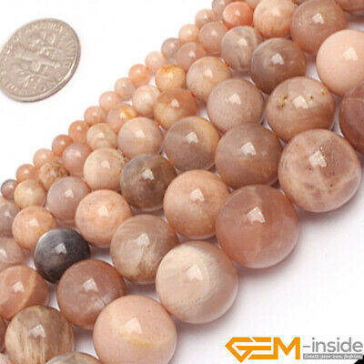"""Natural Gemstone Sunstone Round Spacer Beads For Jewelry Making 15"""" 6mm 8mm 10mm"""