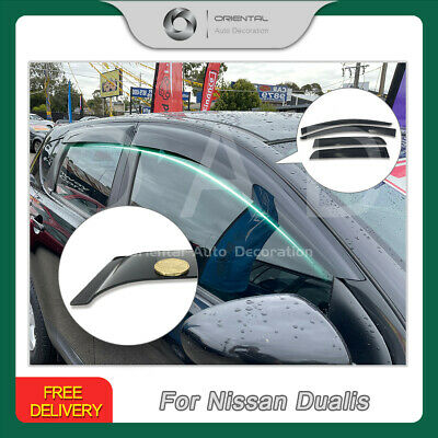 Premium Weather Shields Weathershields Window Visors for Nissan Dualis 07-14