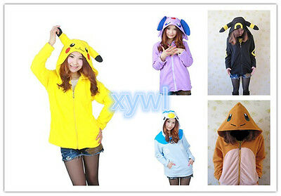 Kigurumi Anime Pokemon Pocket Monster Hot Style Jackets Hoodies Cosplay Costumes