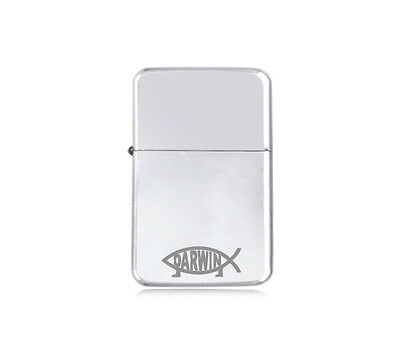 ★STAR★ engraved LIGHTER BORN AGAIN silver black pink gold DARWIN FISH LOGO