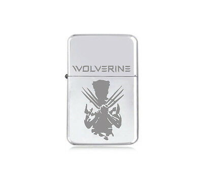 ★STAR★ engraved X MEN LIGHTER silver black pink gold WOLVERINE Hugh Jackman HERO