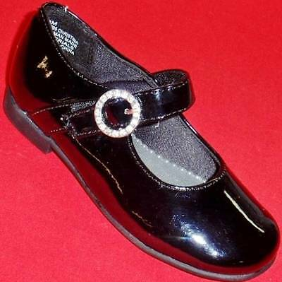 Girl's Toddler RACHEL SHOES CHRISTINA Black Patent Mary Janes Dress Shoes NEW