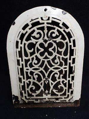 Antique Cast Iron Arch Top Dome Heat Grate Wall Register Vintage  3214-14