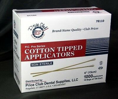 """Value-Pack 2,000 High Quality 6"""" Cotton-Tipped Applicator / Cotton swab / Q-Tips"""