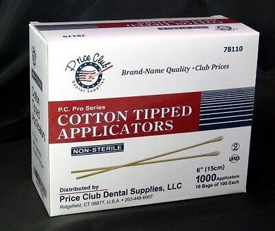 "Value-Pack 2,000 High Quality 6"" Cotton-Tipped Applicator / Cotton swab / Q-Tips"