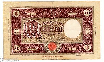 ~ ITALY  1,000 Lire Banknote - 1944 - P72a ~